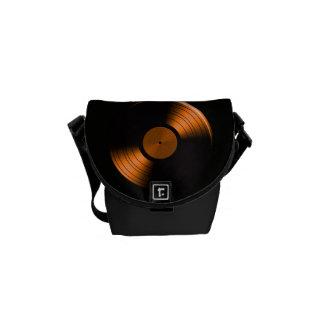 Retro Vinyl Record Album in Orange Commuter Bags