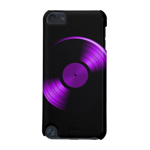 Retro Vinyl Record Album in Purple iPod Touch 5G Cases