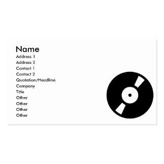 retro vinyl record business cards