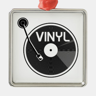 Retro Vinyl Record Turntable Metal Ornament
