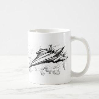 Retro vision-17-supersonic jet plane basic white mug