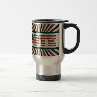 Retro vote, all gear travel mug