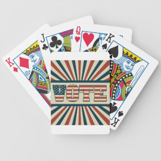 Retro voting gear bicycle playing cards