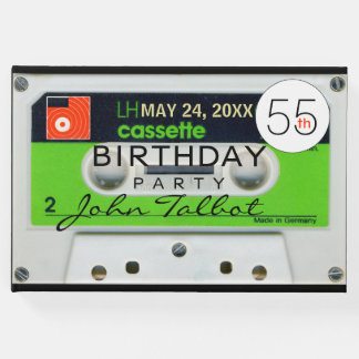 Retro W Audiotape 55th birthday Party Guest Book