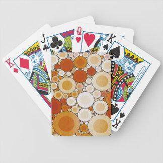 Retro Warm Pattern Poker Deck