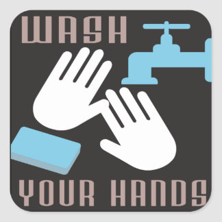 Retro Wash Your Hands Sticker