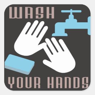 Retro Wash Your Hands Sticker