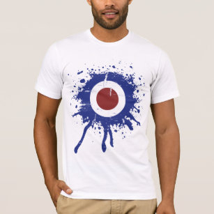 Retro weathered look Mod target T-Shirt