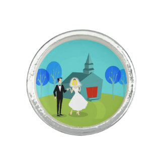 Retro Wedding Couple Ring