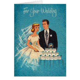 Retro Wedding Greeting Card