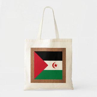 Retro Western Sahara Flag Budget Tote Bag