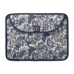 Retro Whimsical Floral Doodles Macbook Pro sleeve