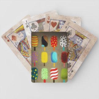 Retro whimsical polka dots pattern card deck