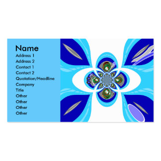 Retro white blue turntable design pack of standard business cards