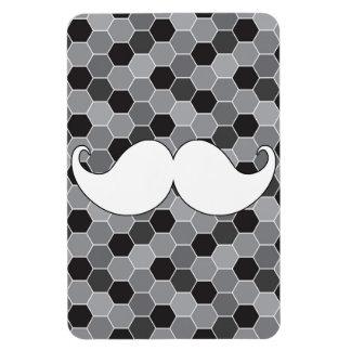 Retro White Handlebar Mustache Moustache Flexible Magnet