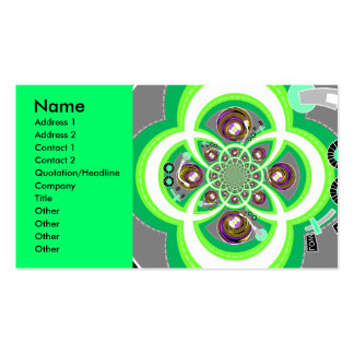 Retro white purple and green turntable business card