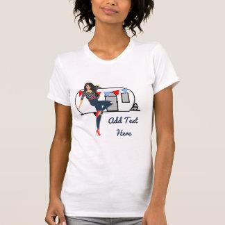 Retro white trailer trash vintage pinup CUSTOMIZE T-Shirt