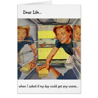 Retro Wife - Housework is the Worst, Card