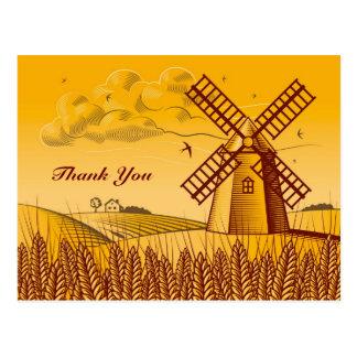 Retro Windmill Postcard