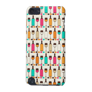 Retro wine bottles and glasses iPod touch 5G case