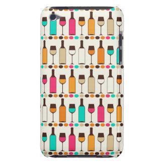 Retro wine bottles and glasses iPod touch Case-Mate case