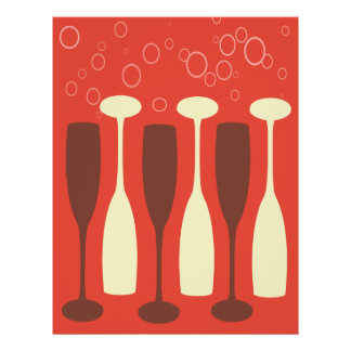 Retro wine glass design 21.5 cm x 28 cm flyer