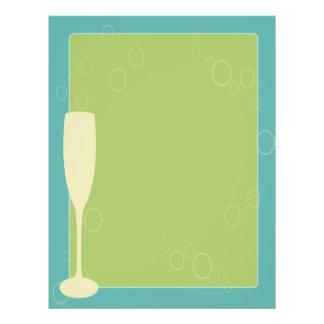 Retro wine glass menu template 21.5 cm x 28 cm flyer