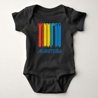 Retro Winnipeg Manitoba Canada Skyline Baby Bodysuit