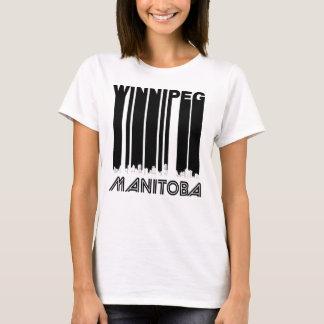 Retro Winnipeg Manitoba Canada Skyline T-Shirt
