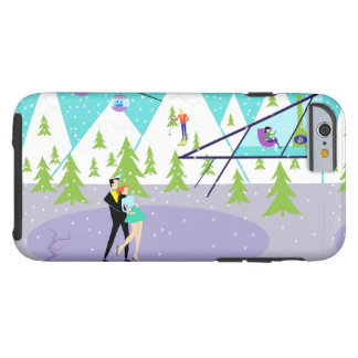 Retro Winter Ski Resort iPhone 6 Case Tough iPhone 6 Case