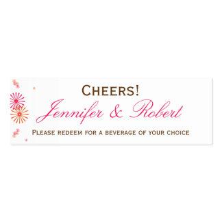 Retro with a Modern Twist Starburst Drink Ticket Business Cards