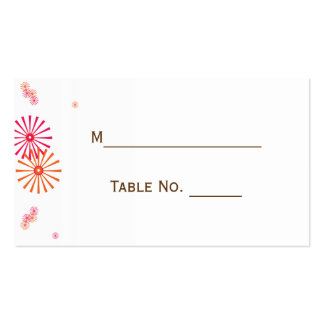 Retro with a Modern Twist Starburst Place Card Double-Sided Standard Business Cards (Pack Of 100)