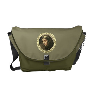 Retro Woman Aviator Commuter Bag
