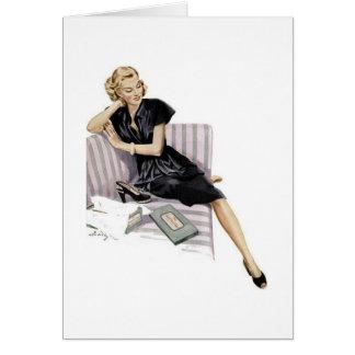 Retro Woman - Just Let Me Shop, Card