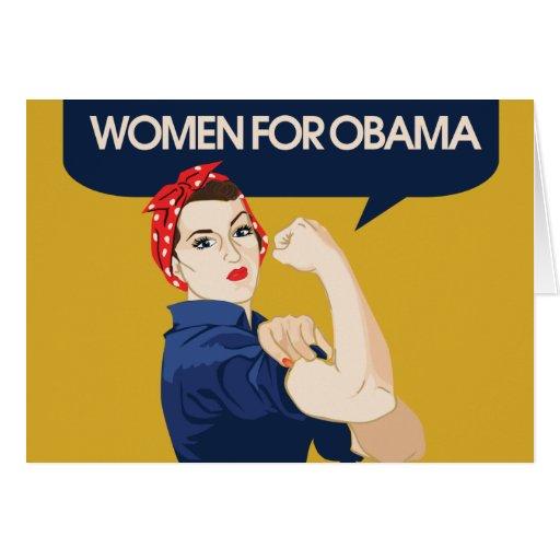 Retro Women for Obama Cards