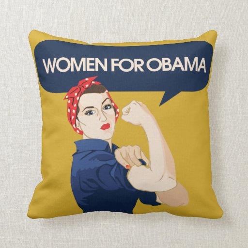 Retro Women for Obama Pillow