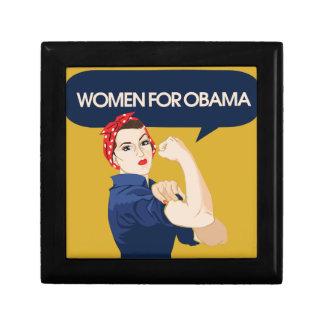 Retro Women for Obama Jewelry Box