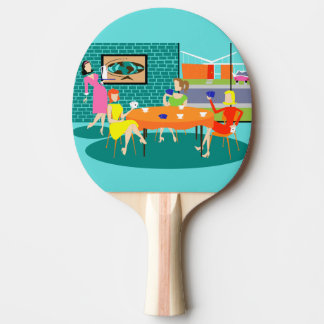 Retro Women's Card Game Ping Pong Paddle