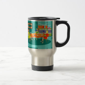 Retro Women's Weekly Card Game Travel Mug