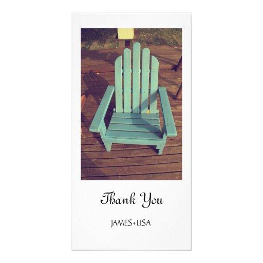 Retro Wood Chair Photo Card