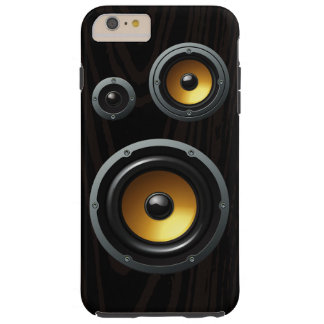 Retro Wood Grain Speaker Trio Tough iPhone 6 Plus Case