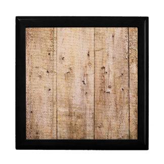 Retro Wood Wooden Texture Pattern Jewelry Box