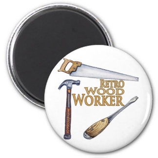 Retro Wood Worker Magnet
