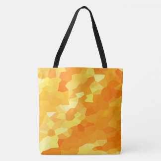 Retro Yellow and Orange Stained Glass Fall Mosaic Tote Bag
