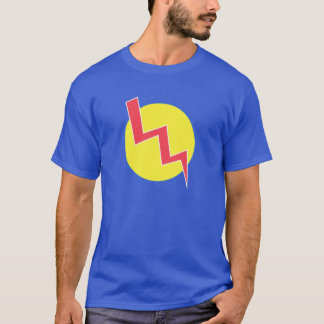 Retro Yellow and Red Lightning Bolt Shirt