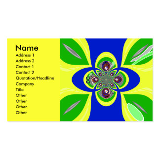 Retro yellow blue turntable design pack of standard business cards