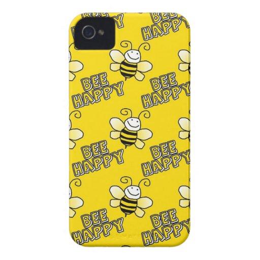 Retro Yellow Bumble Bee Pattern Case-Mate Blackberry Case