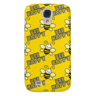 Retro Yellow Bumble Bee Pattern Samsung Galaxy S4 Covers