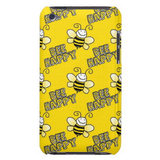 Retro Yellow Bumble Bee Pattern iPod Case-Mate Cases