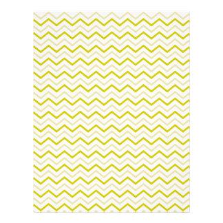 Retro Yellow Chevron Zigzag Unique Custom Flyer
